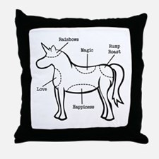 Unicorn Parts Throw Pillow