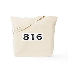 816 Area Code Tote Bag