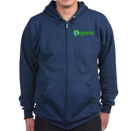 Organic Earth Zip Hoodie (dark)
