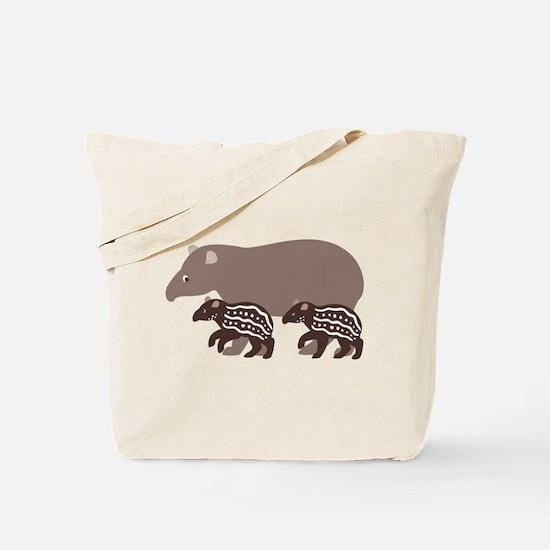 Tapir Family A Tote Bag