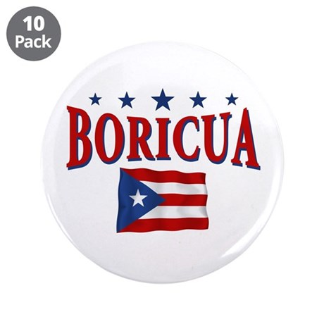 """Puerto rican pride 3.5"""" Button (10 pack)"""