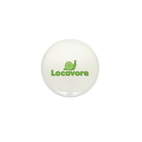 Locavore Snail Mini Button