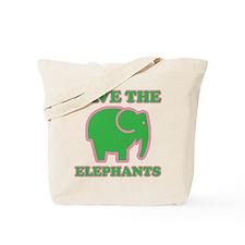 Unique Save the elephants Tote Bag