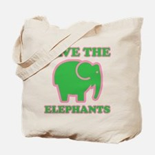 Cool Save the elephants Tote Bag