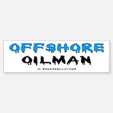 Offshore Oilman Bumper Sticker,Oil Rigs,Oil