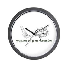 Weapons of Grass Destruction Wall Clock