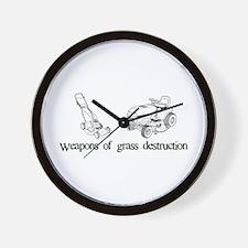Weapons of Grass Destruction Wall Clock