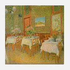 Van Gogh Interior of a Restaurant Tile Coaster