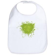 Green Heart and Earth Bib