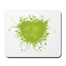 Green Heart and Earth Mousepad