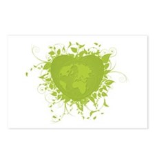Green Heart and Earth Postcards (Package of 8)