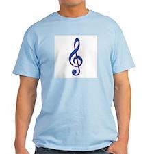 Neon Blue Treble Clef T-Shirt