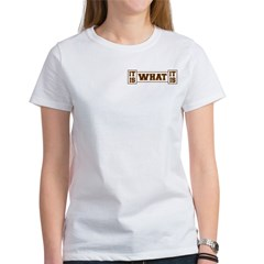 It Is What It Is Brown and Gold Women's T-Shirt