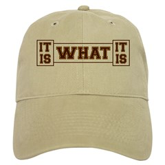 It Is What It Is Brown and Gold Baseball Cap