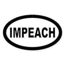 Impeach Car Oval Decal