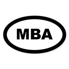 MBA Car Oval Decal