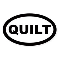 Quilt Car Oval Bumper Stickers