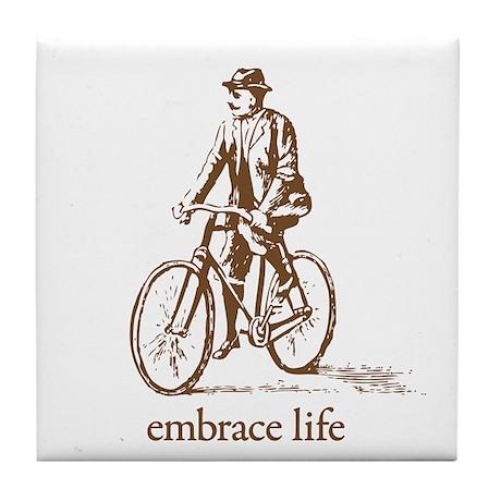 'embrace life' Tile Coaster