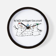 Bigger Balls Wall Clock