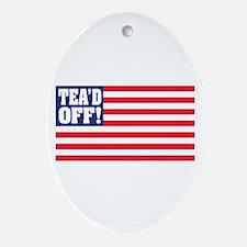 Tead Off! Oval Ornament