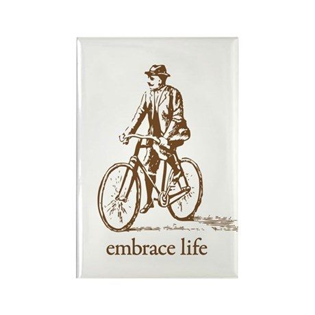 'embrace life' Rectangle Magnet