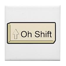 Oh Shift! key Tile Coaster