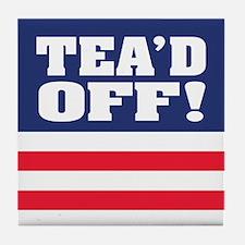 Tea'd Off! Tile Coaster