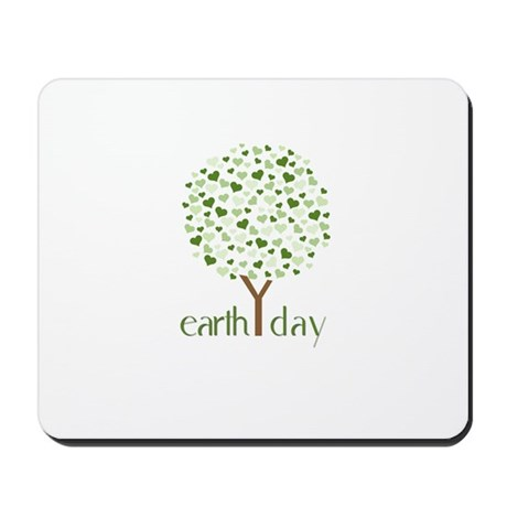 Earth Day Tree - Think Green Mousepad