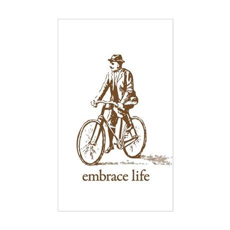 'embrace life' Rectangle Sticker