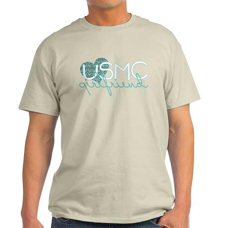 Blue Damask Girlfriend Light T-Shirt
