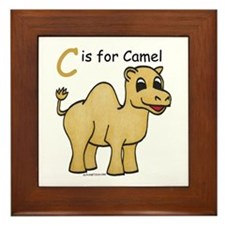 C is for Camel Framed Tile