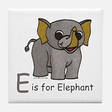 E is for Elephant Tile Coaster