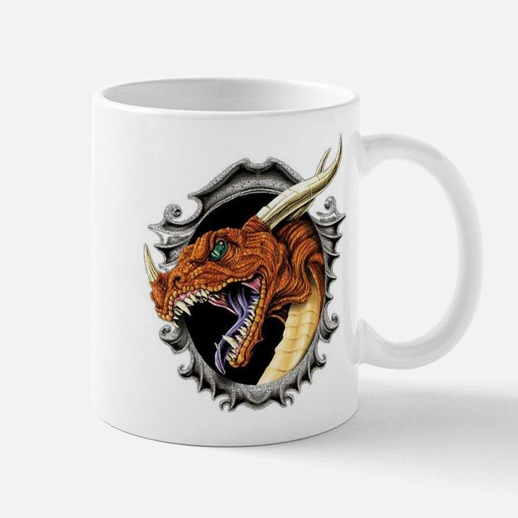 dragon in frame Mug