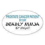 Prostate Patient Deadly Ninja Oval Sticker