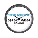 Prostate Patient Deadly Ninja Wall Clock