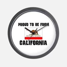 Proud To Be From Be CALIFORNIA Wall Clock