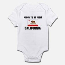 Proud To Be From Be CALIFORNIA Infant Bodysuit