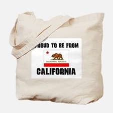 Proud To Be From Be CALIFORNIA Tote Bag