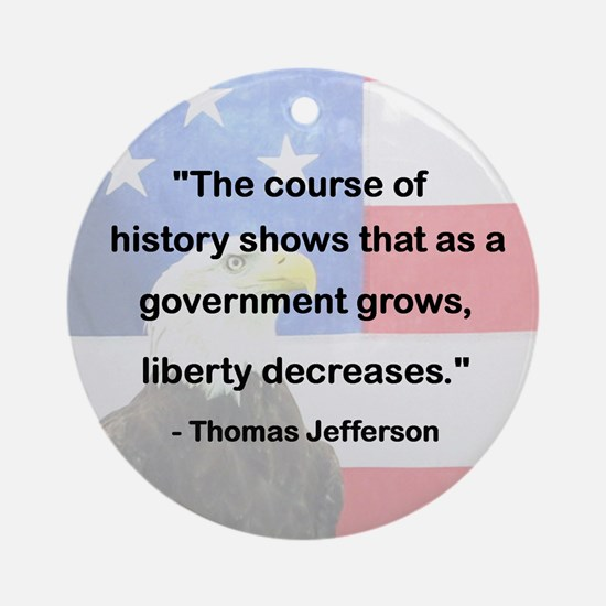 Government Grows,Liberty Decreases Ornament(Round)