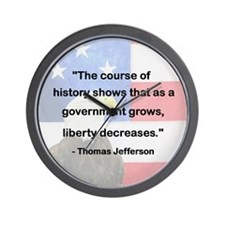 Government Grows, Liberty Decreases Wall Clock