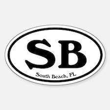 SB South Beach Oval Oval Decal