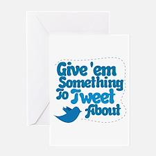 Tweet Blue Bird Greeting Card
