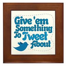 Tweet Blue Bird Framed Tile