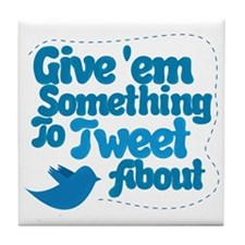 Tweet Blue Bird Tile Coaster