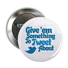 """Tweet Blue Bird 2.25"""" Button"""