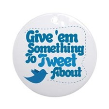 Tweet Blue Bird Ornament (Round)