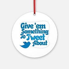 Tweet Blue Bird Ornament (Round)