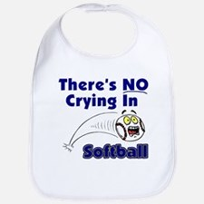 There's No Crying In Softball Bib