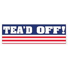 Tea'd Off! Bumper Bumper Sticker