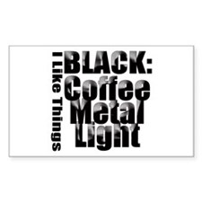 BLACK METAL Rectangle Decal